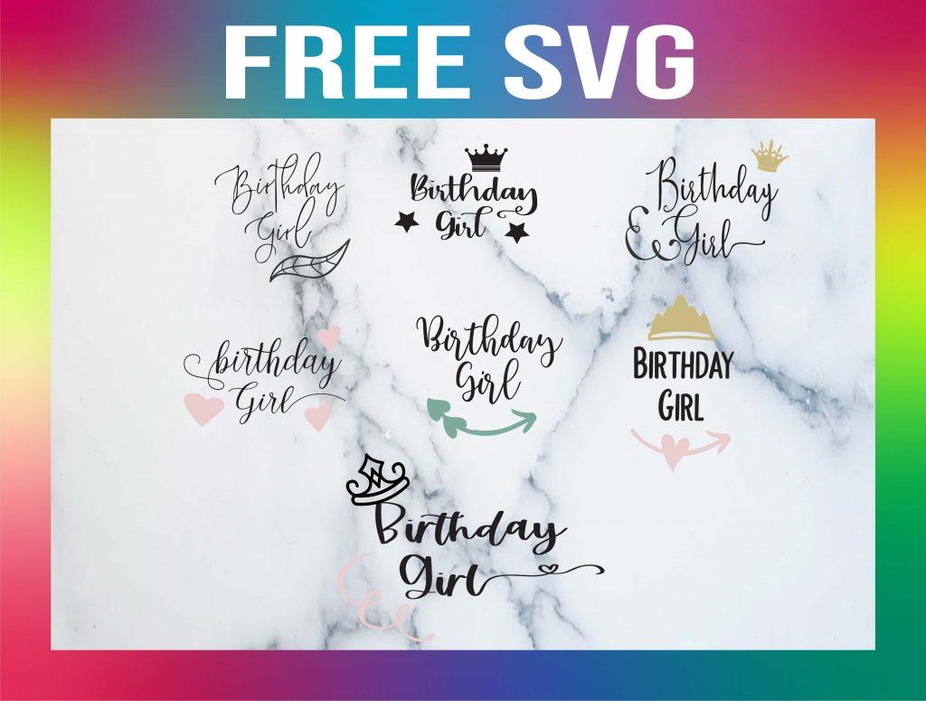 Free Birthday Girl SVG