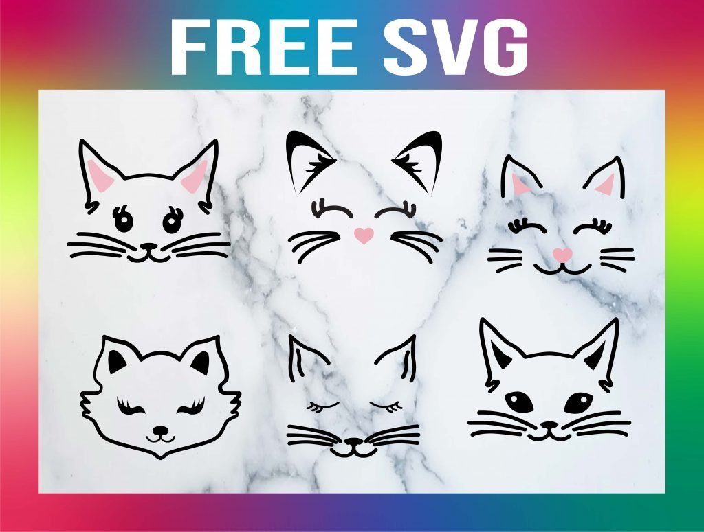 Free Cat Face SVGs