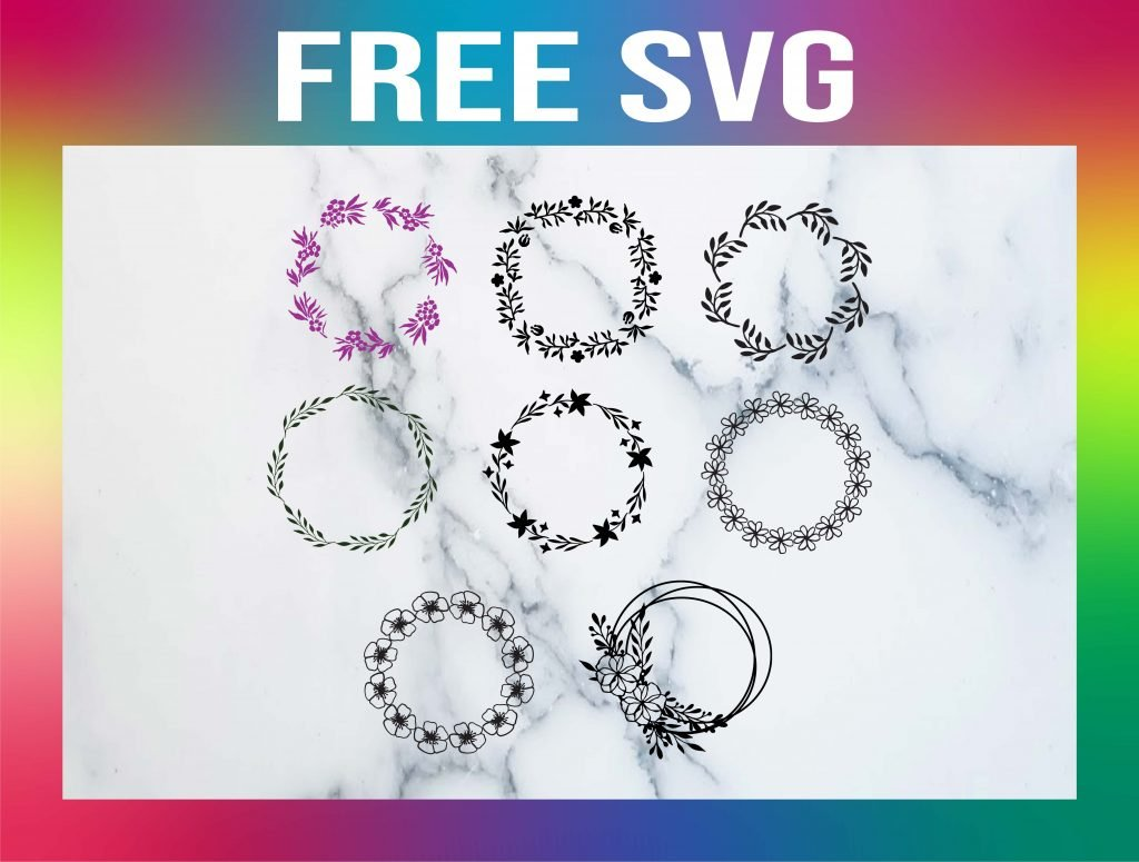 Free Flower Wreath SVG Templates