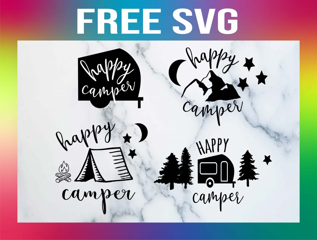 Free Happy Camper SVG