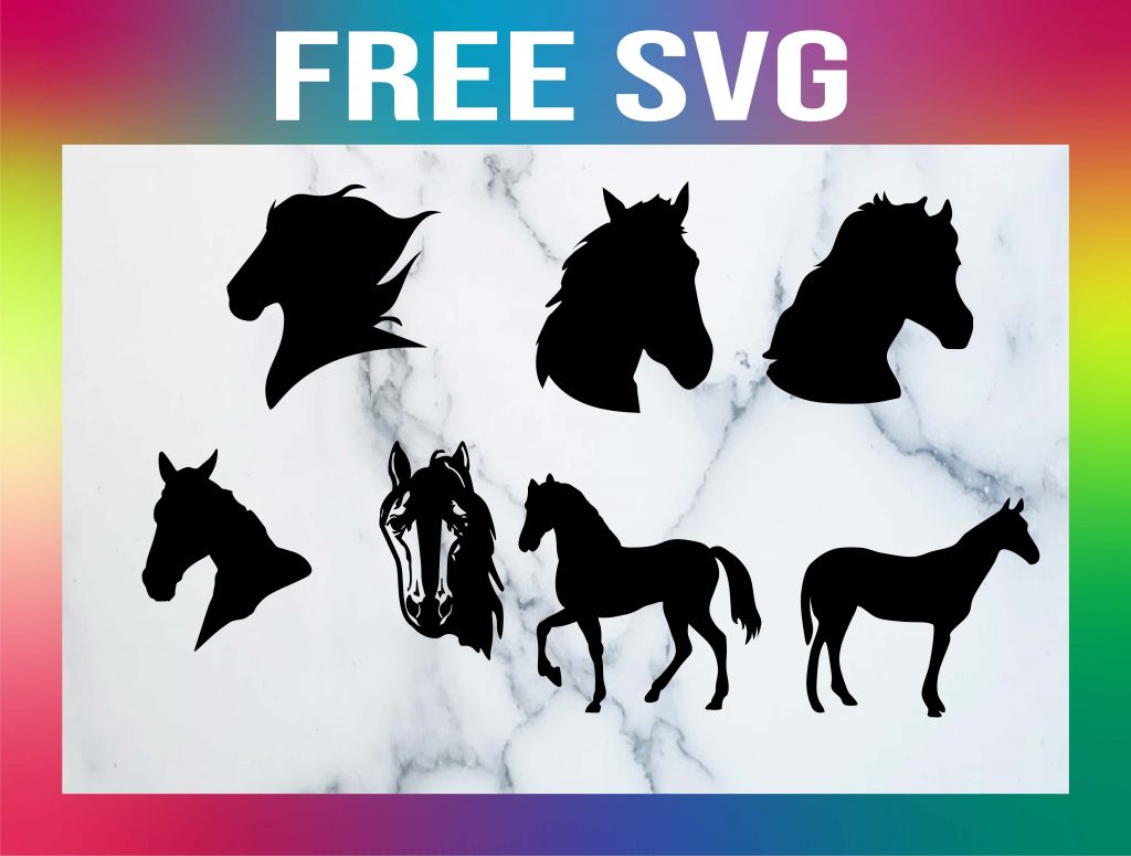 Free Horse Head SVG Silhouettes