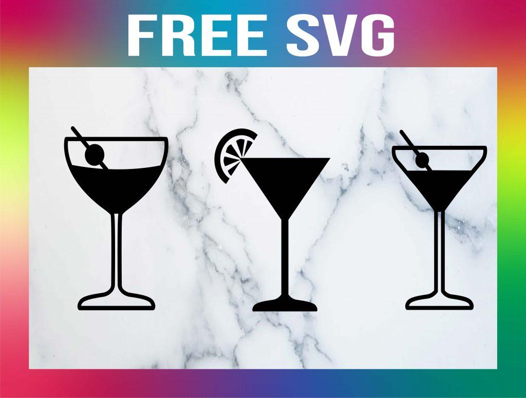 Free Martini Glass SVG