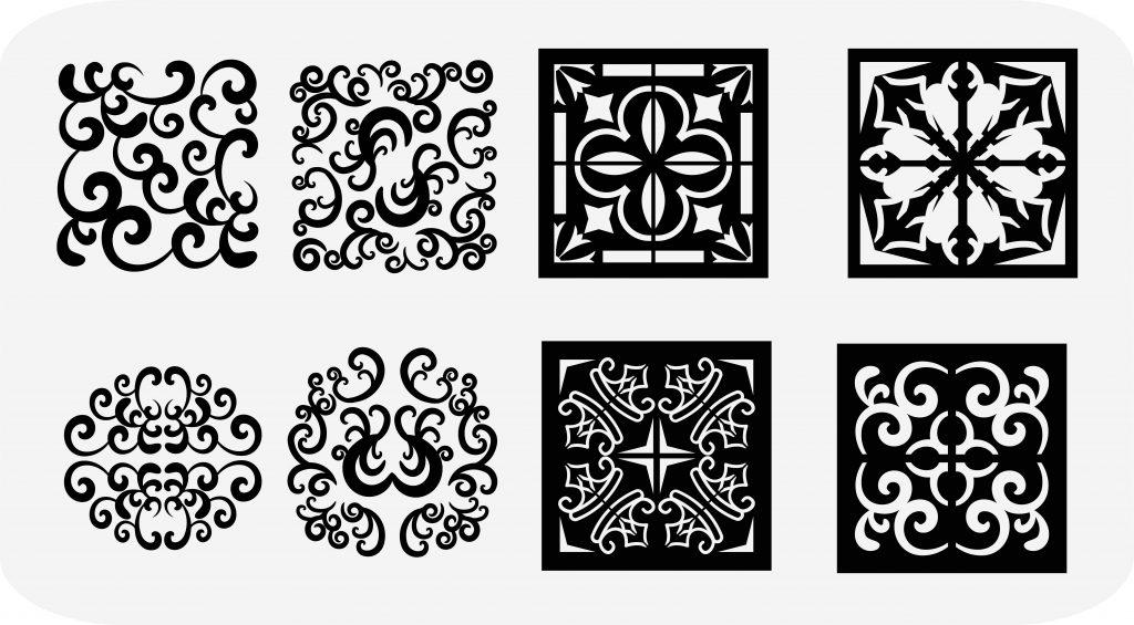 moroccan tile stencil