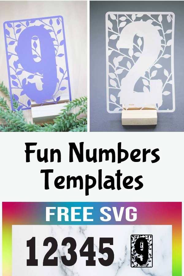 free numbers svg