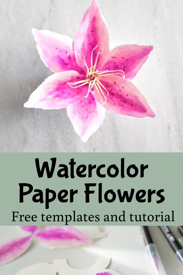 paper lily flower template