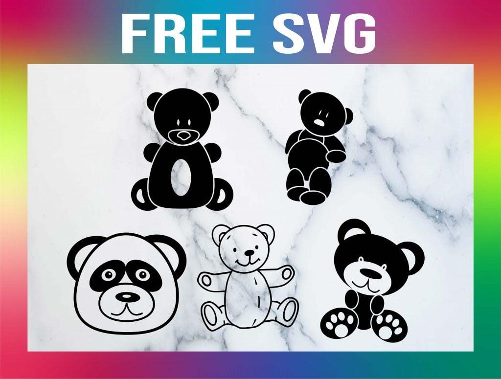 Free Teddy Bear SVG