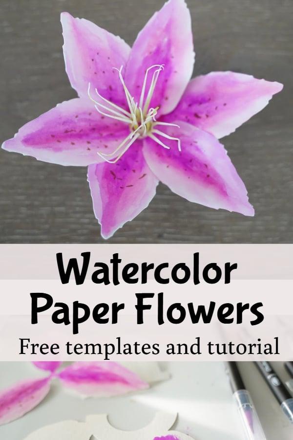 watercolor paper flower