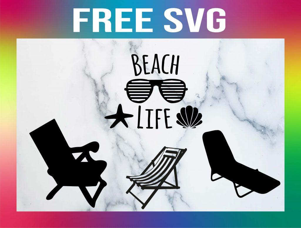 Free Beach Chair SVG