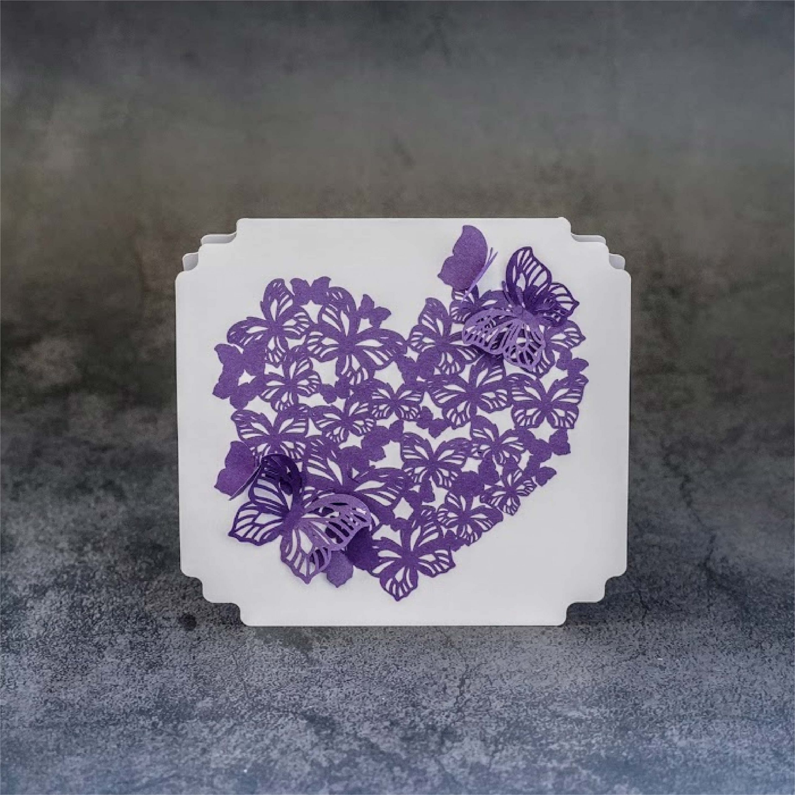 butterfly lace card