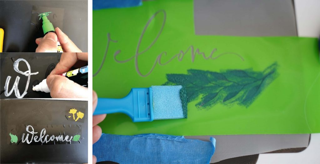 how to stencil on chalkboard