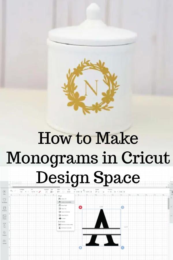 monograms in cricut designs space