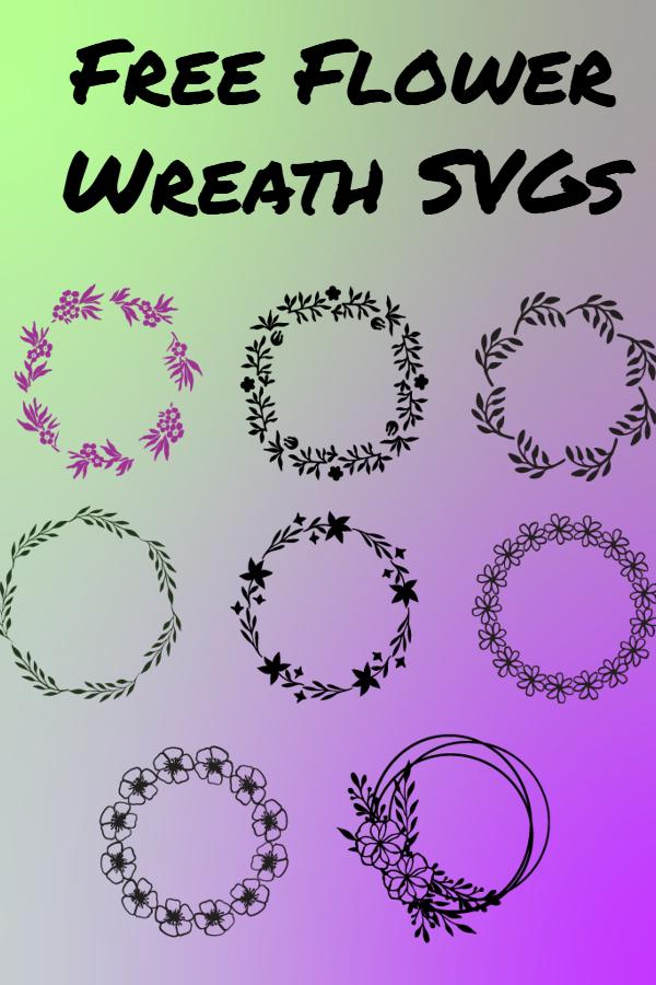 free flower wreath svg