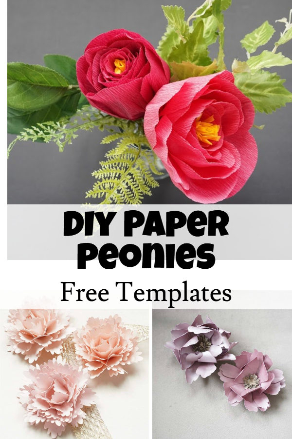 free paper peony template