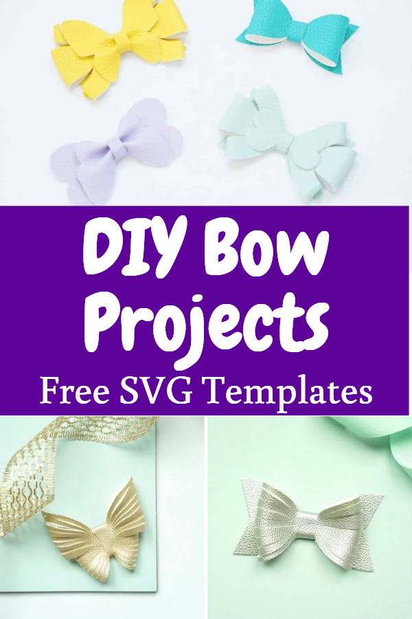 free bow svg template