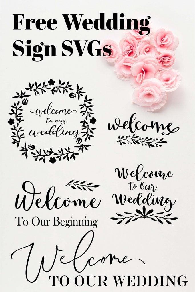 free wedding sign svg