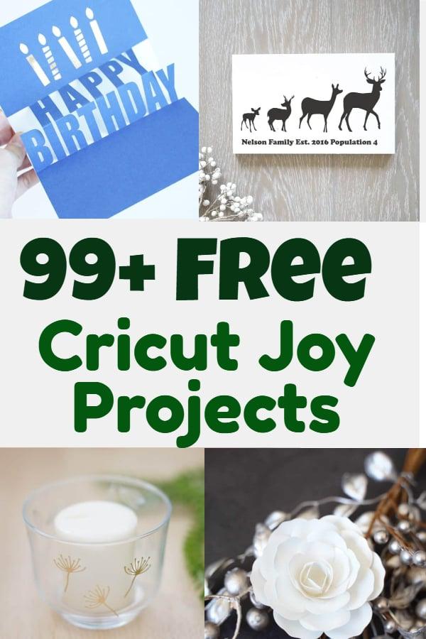 Free cricut Joy projects