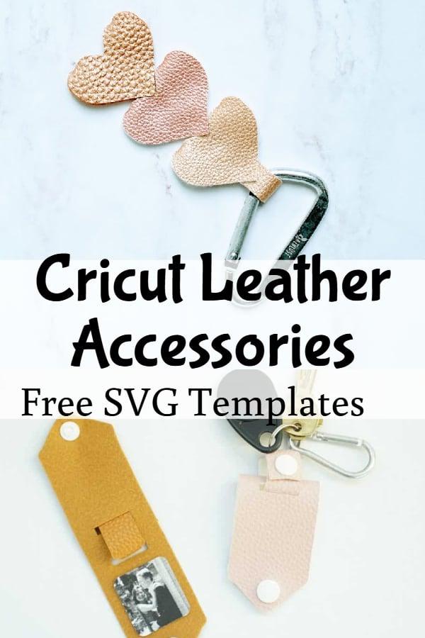 cricut faux leather project