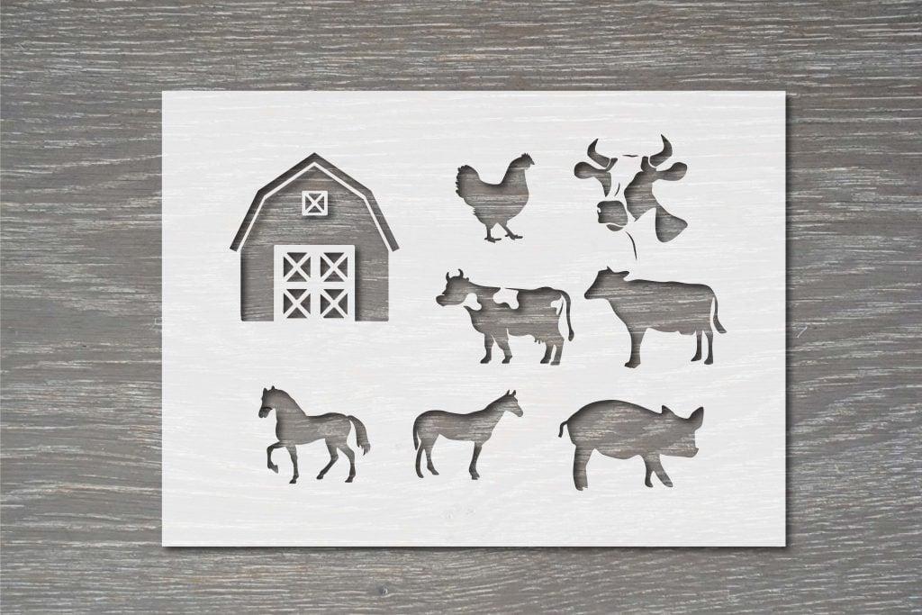 farm animal stencil template