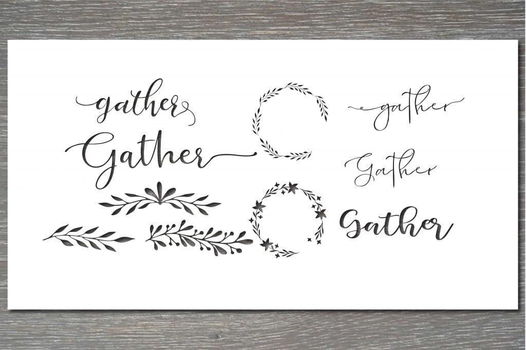 gather stencil template