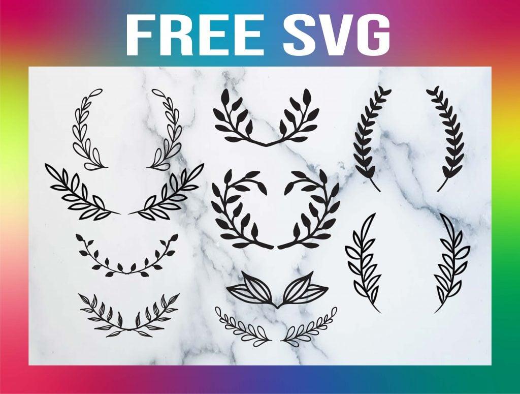 laurel leaves svg free