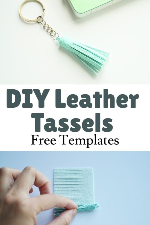 leather tassel template printable