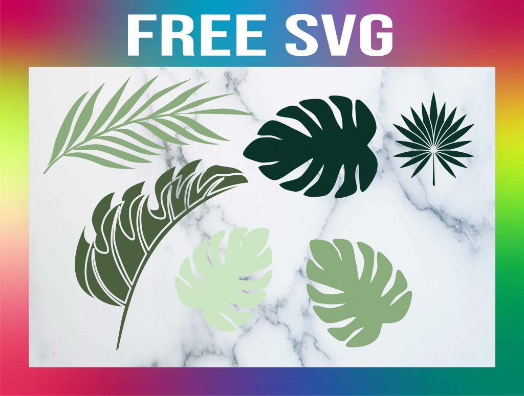 tropical leaves svg free