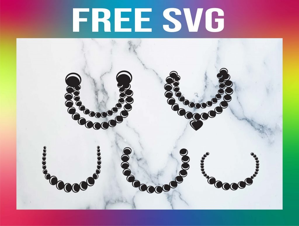 Free Pearl Necklace SVG