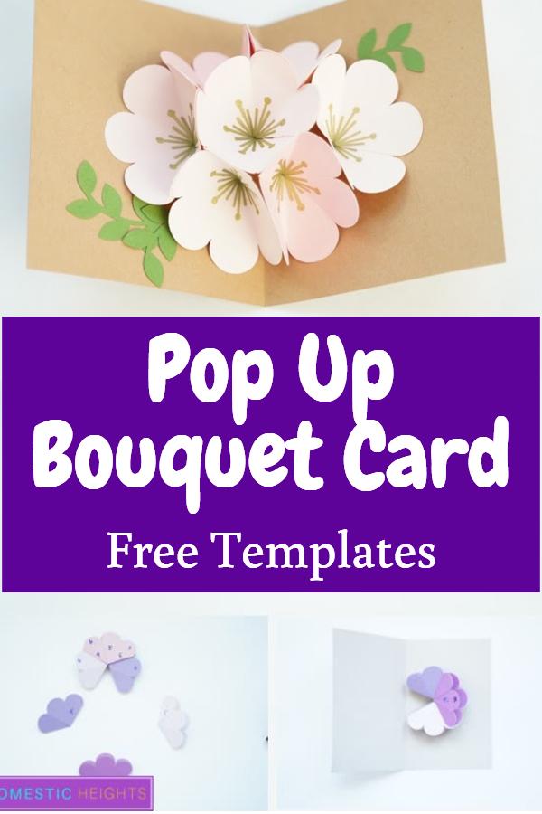 cricut popup bouquet card svg