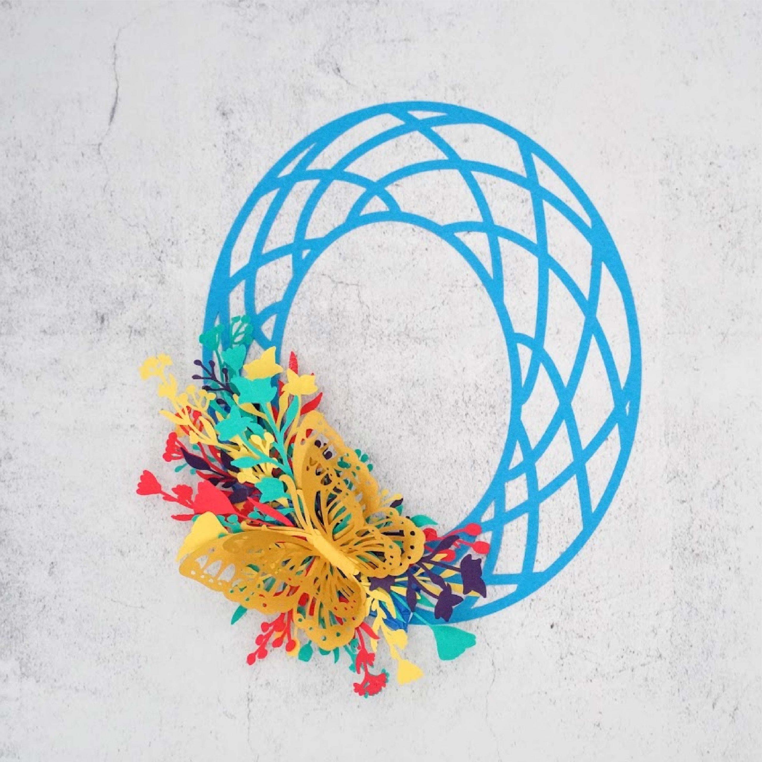 spring geo wreath