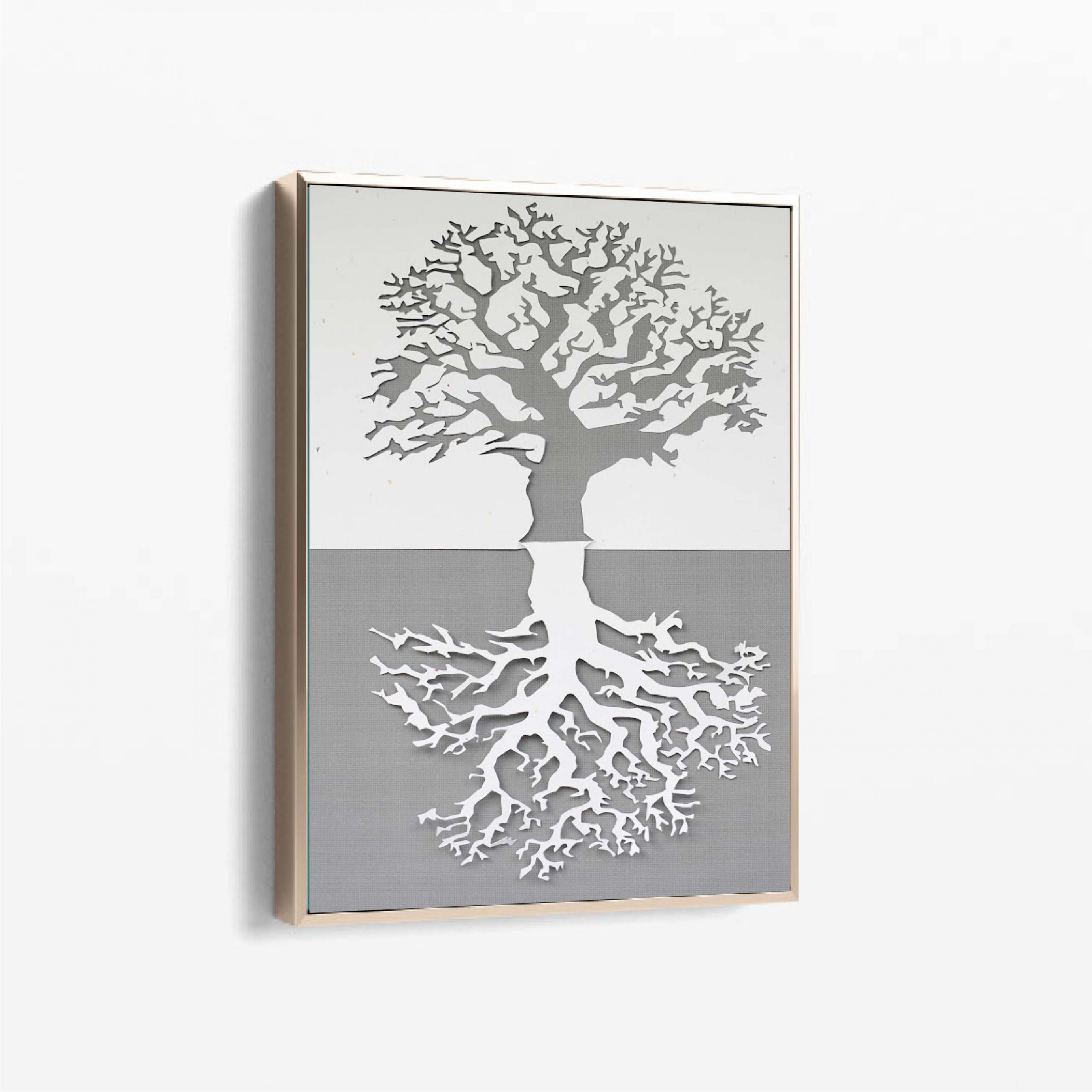 tree and root wall art