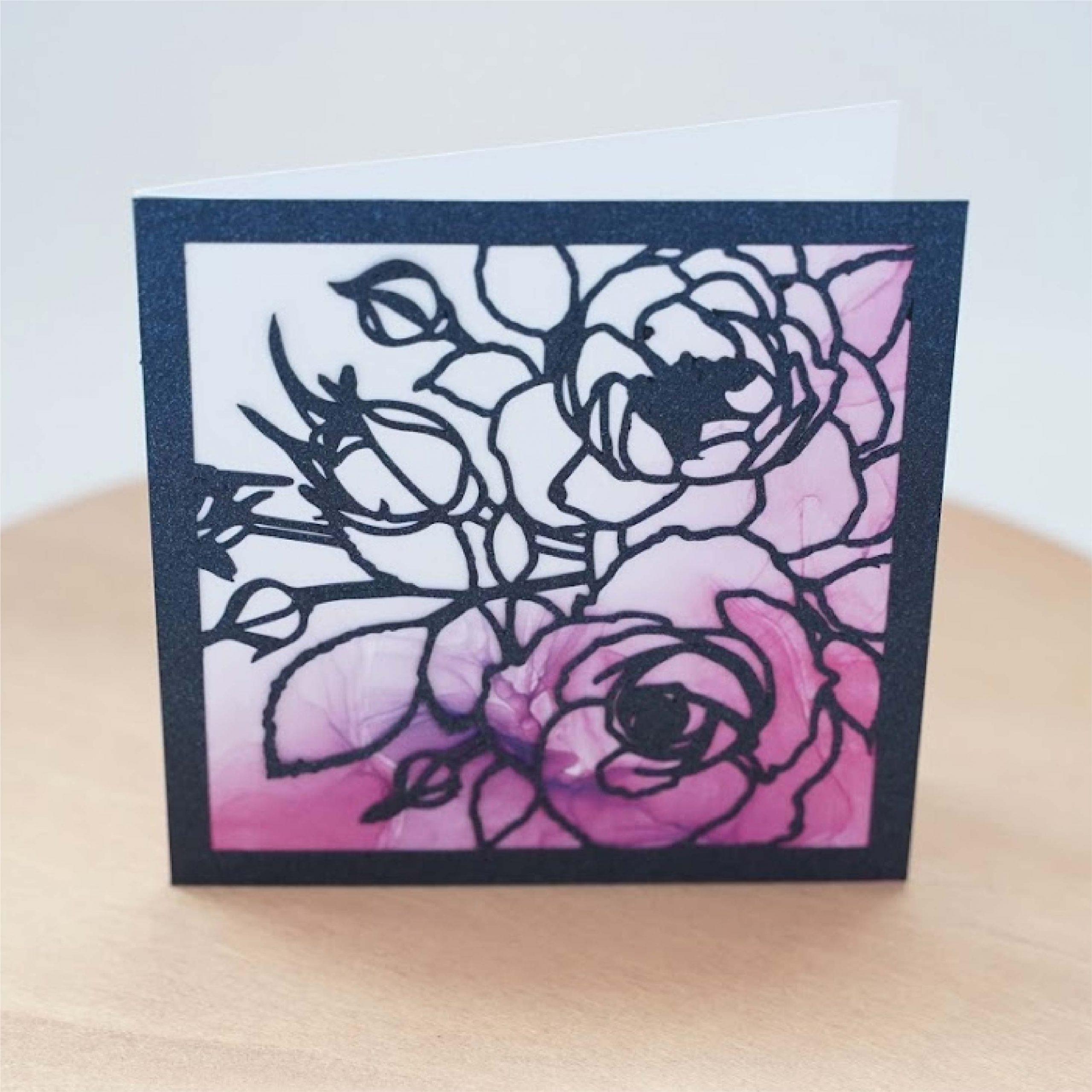 watercolor rose card
