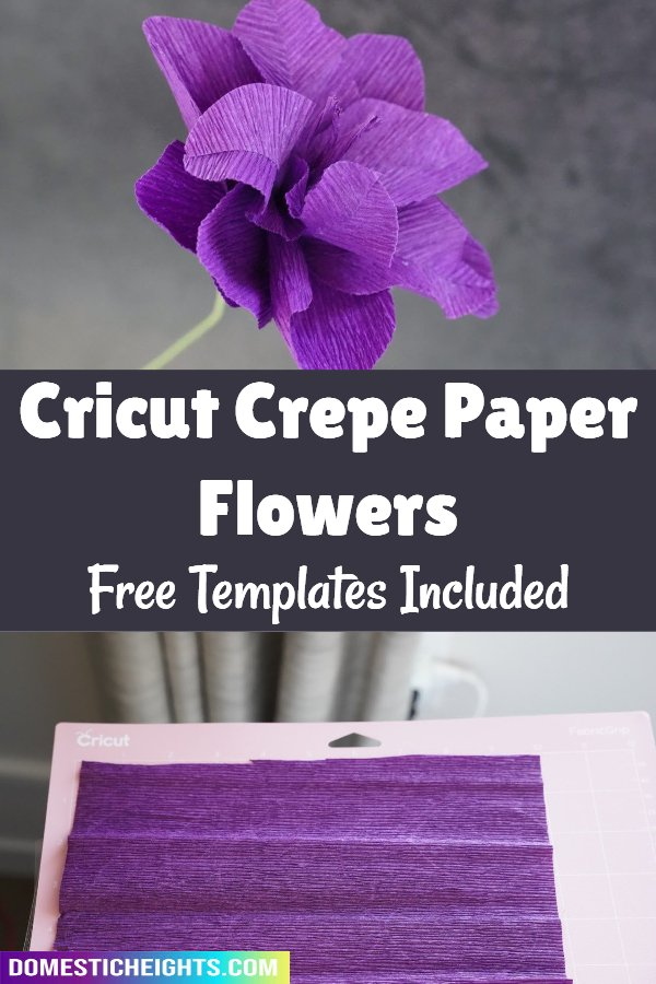 cricut crepe paper flower