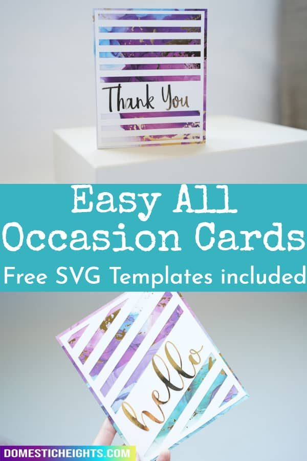 cricut card template free