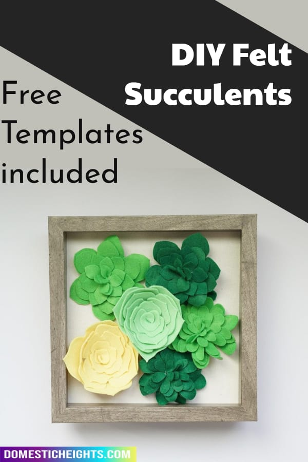 Felt Succulents templates