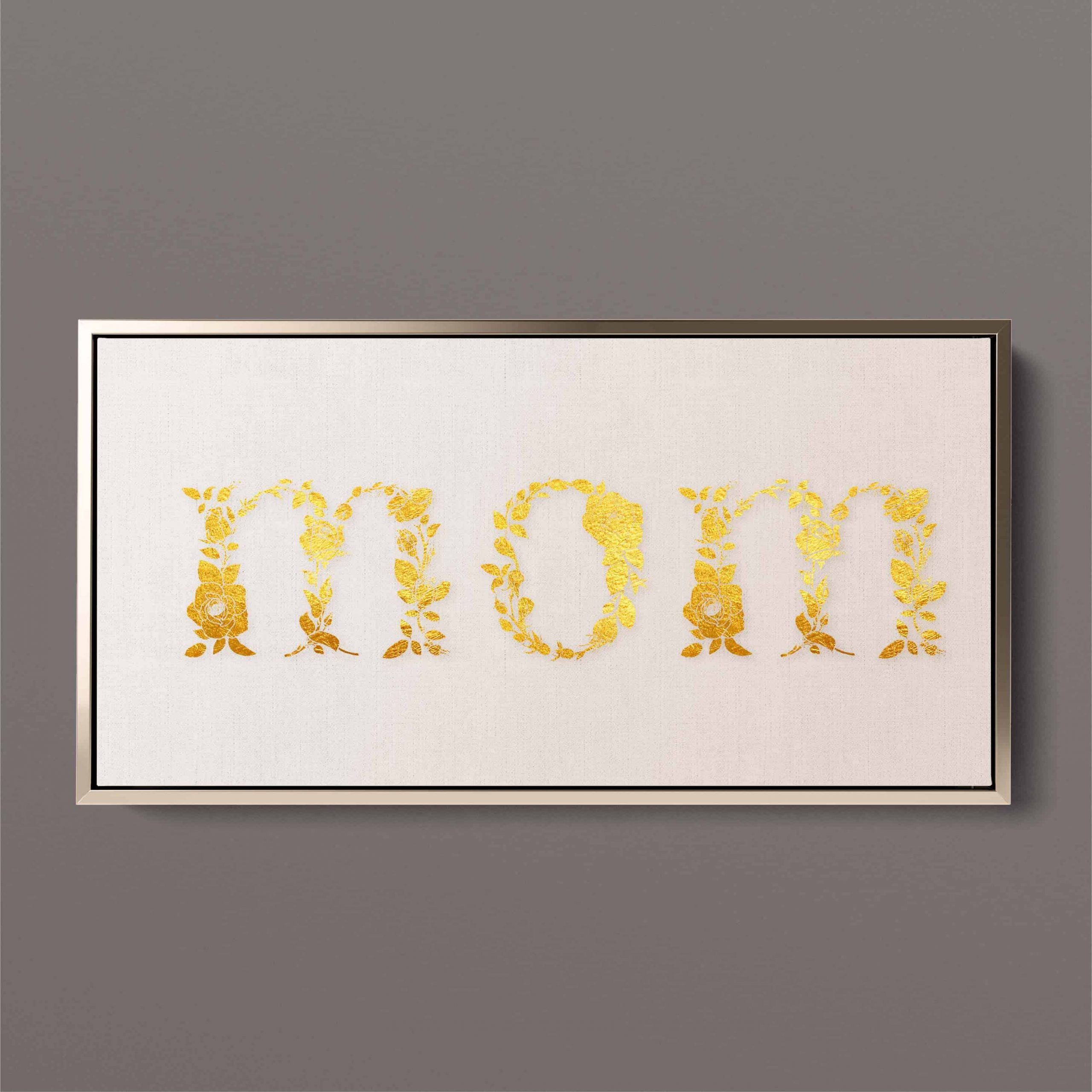 floral mom lettering pic