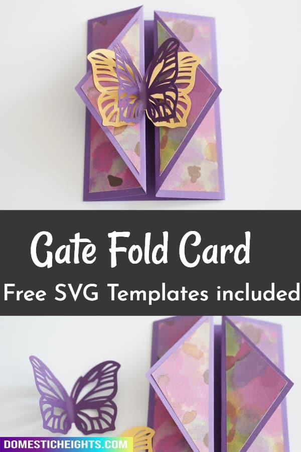 gatefold card template