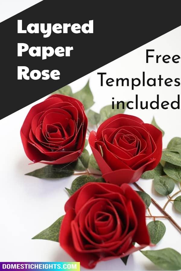 Cricut Paper Rose template