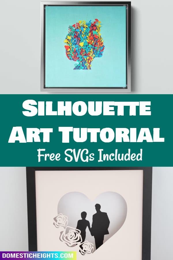 Cricut silhouette art project