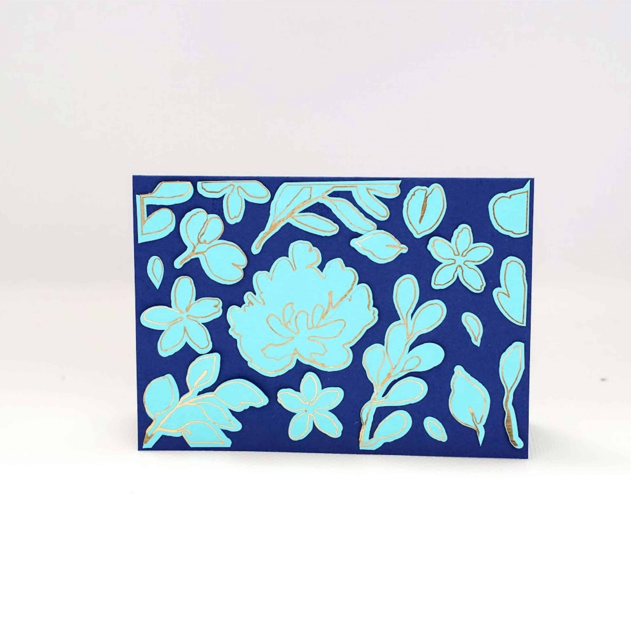 turquoise floral card