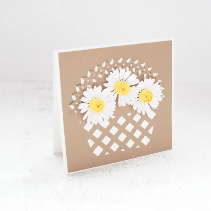 daisy basket card
