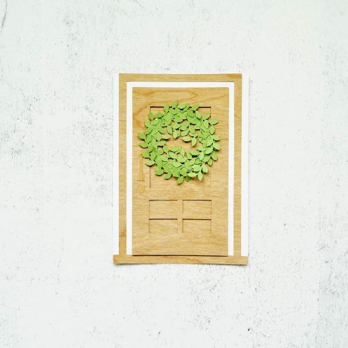door wreath card