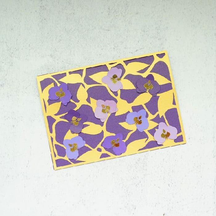 orchid abstract card