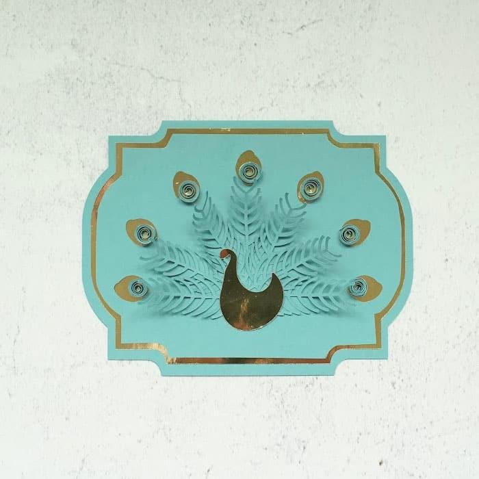 peacock 3D card