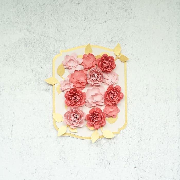 spray rose card