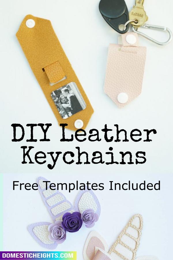 diy cricut leather keychain