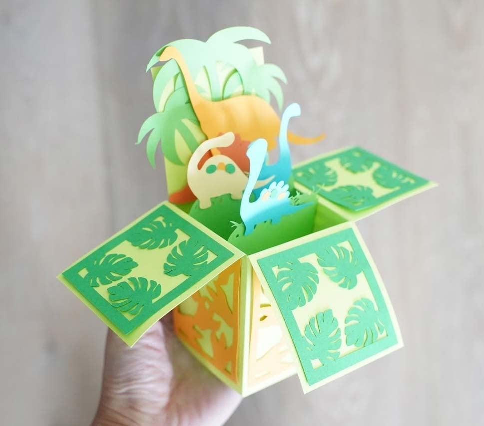 dinosaur card template