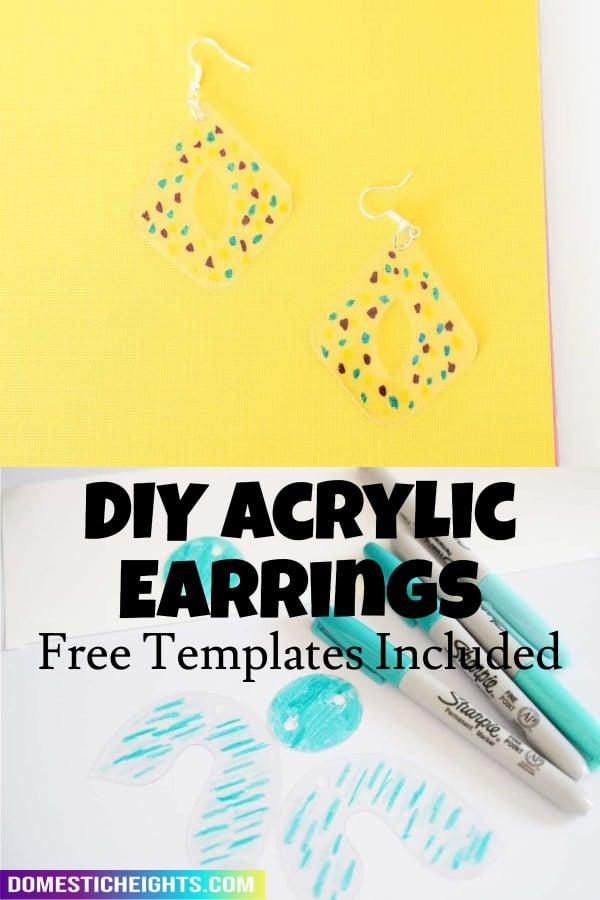 diy acrylic earrings