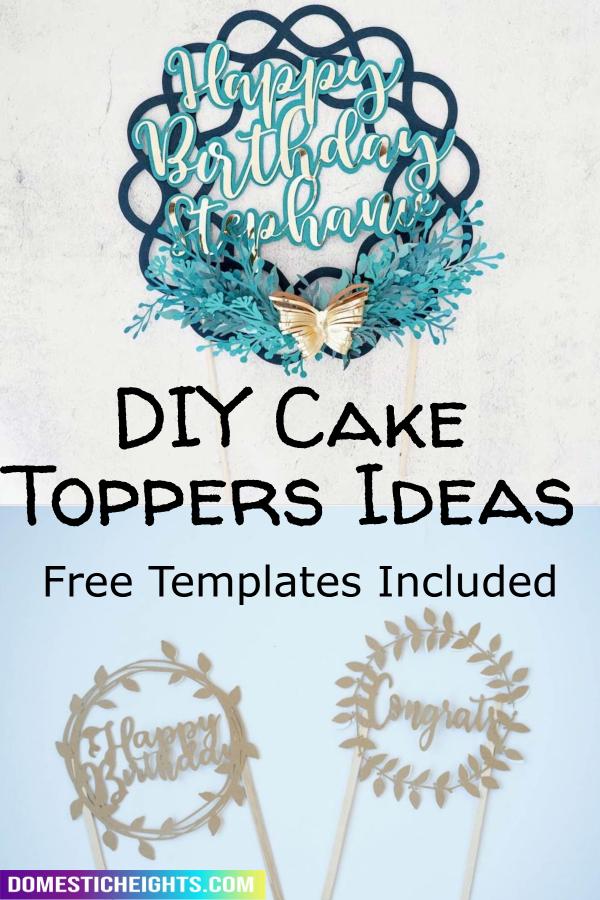 birthday cake topper printable