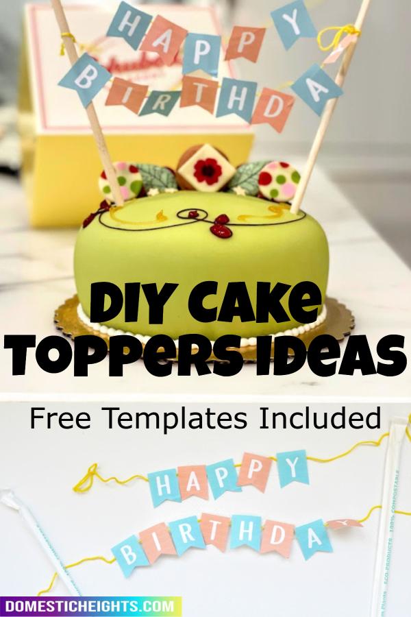 diy cake topper letter