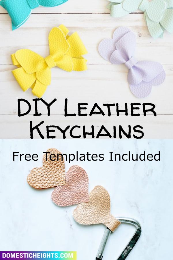 cricut leather keychain